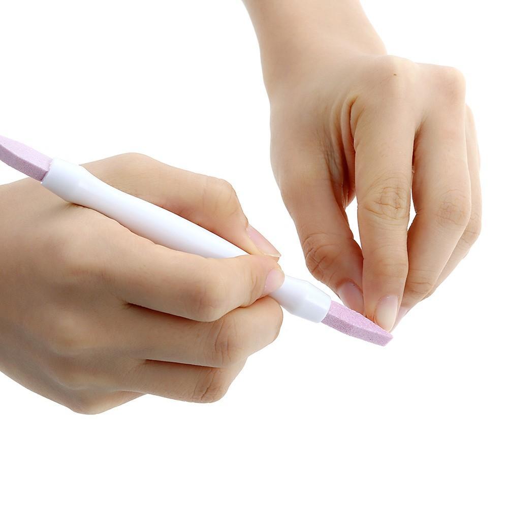 Wholesale- Stone Nail Files Nail Scrub Professional Grinding Stone ...