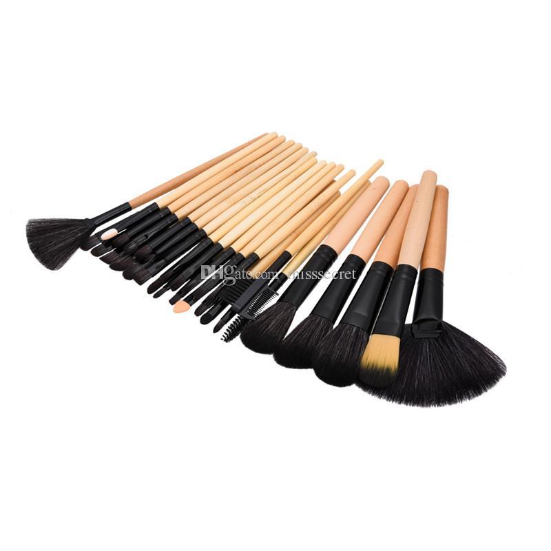 New 24 Makeup Brushes Pro Cosmetic Kabuki Makeup Brush Kit Eyeshadow eye lip Blush Brush Foundation Makeup Brush Kit Tools