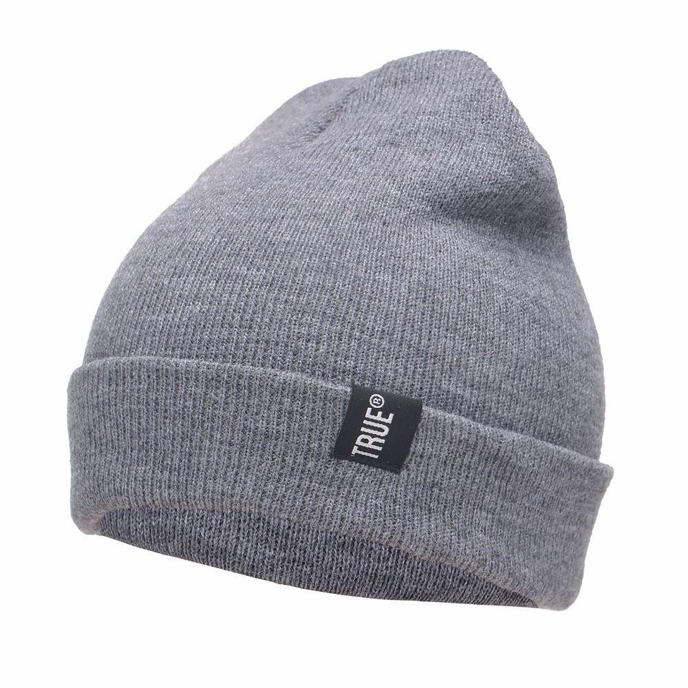 Mens Sport Beanies Hat Letter True Casual Beanies for Men Women ... 34a7096113a