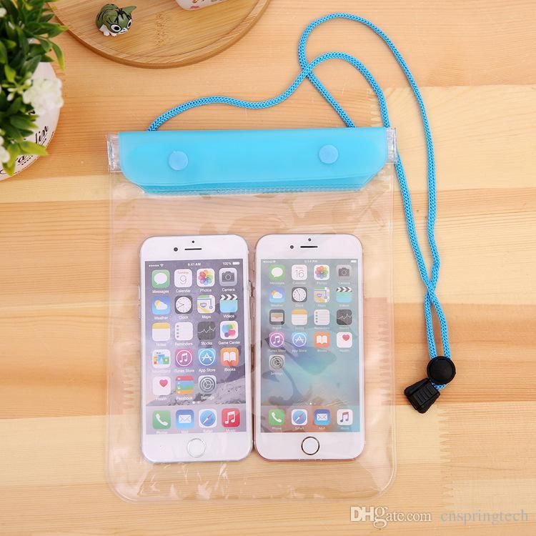 Étui transparent pour étui étanche à l'eau de grande taille pour téléphone portable pour appareil photo Sacs étanches pour iphone samsung htc huawei