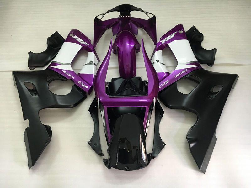 Lower price moto part fairings for Yamaha YZF R6 98 99 00 01 02 purple black fairing kit YZFR6 1998-2002 OT48