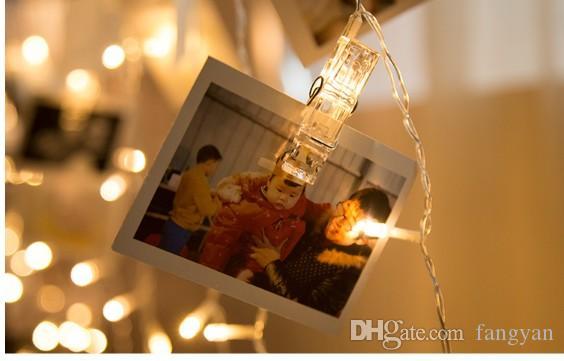 2M * 1.6M150leds a forma di cuore Clip di luci ragazza cuore matrimonio tavolo bianco compleanno matrimonio LED flash string luci