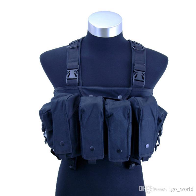 Alta qualidade Tactical Vest Tactical barrigueira camuflar combate Vest CS jogo Equipamento de Protecção Vest do exército da selva Fãs Tactical Gear