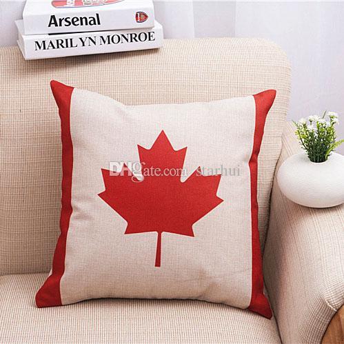 Наволочки бросить наволочки США Великобритания флаг Франция Канада листья наволочка чехлы для дома украшения WX-P26