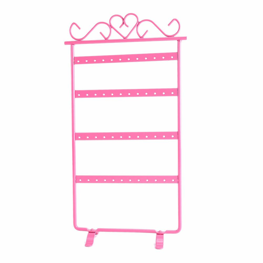 Jewelry Stand Display Earrings Necklace Pendant Ornament Holder Storage Rack 48Holes Bouches Bracelet Organizer Showcase