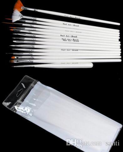 / set Decoraciones de arte de uñas Juego de cepillos Herramientas Pluma de pintura profesional para puntas de uñas falsas Esmalte de gel de uñas UV