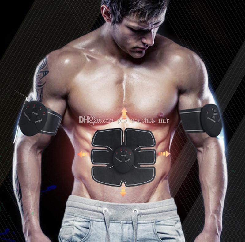 Estimulador Sem Fio Muscular EMS Estimulação Do Corpo Máquina de Emagrecimento Emagrecimento Abdominal Exercitador Muscular Dispositivo de Treinamento Do Corpo Massageador X063