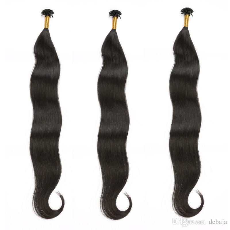 Natural Black Micro U Tip Hair Extension Brazilian Straight Crochet Pre Bonded Remy Human Extensions Piece Cheap Price Keratin Bond