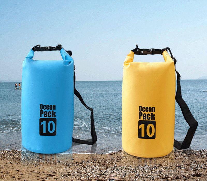 Outdoor Portable Pvc Waterproof Backpack Storage Sack Kayak Rafting Bag Sport Bags Travel Equipment Street Price Climbing Bags Sports & Entertainment