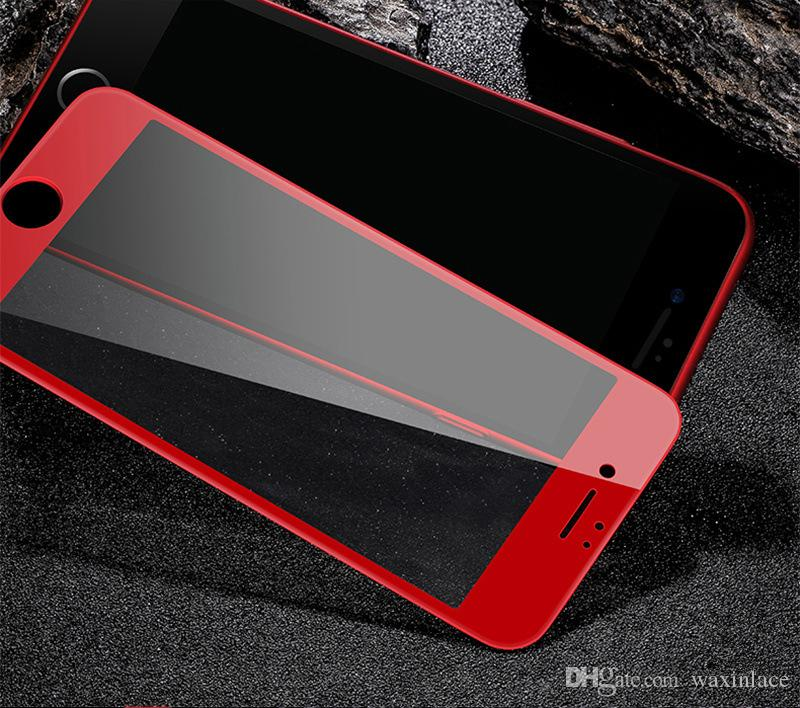 Luxury For iphone 7 Front Screen Protector 3D Full Cover Tempered Glass For iphone 7 Plus Red Anti Glare Film