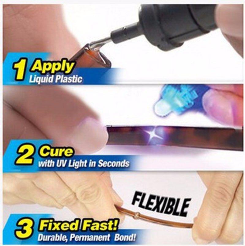 Super Powered Liquid Plastic Welding 5 Second Fix Uv Light Mobile Phone Repair Tools With Glue Multitool Retail Packaging DHL Ship