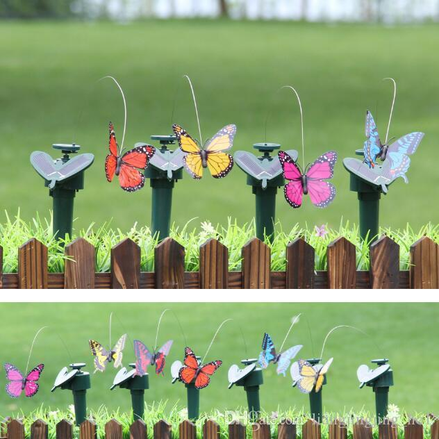2017 Home And Garden Decor Ornaments Simulation Spinning Flying Butterfly  With Solar Energy Butterfly Garden Decoration Cca6795 From  Liangjingjing_no1, ...