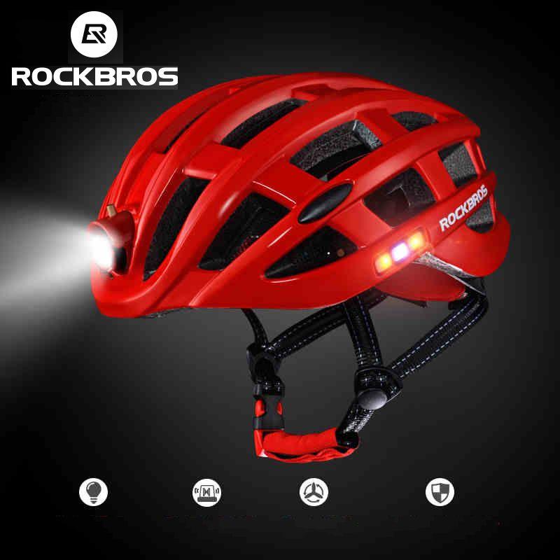 Bike Helmet Light >> 2019 Rockbros Cycling Helmet Bike Ultralight Helmet With Light