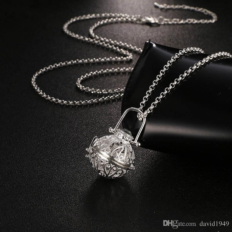 Diffusor Medaillon Halskette Aromatherapie Diffusor Halsketten Ätherische Öle Diffusor Halskette Mode Neue Medaillon Anhänger Halskette 5 Farben