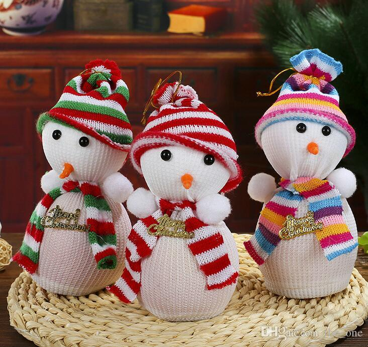 Cute Snow Man Cover Apple Small Bags Christmas Dinner Table Party