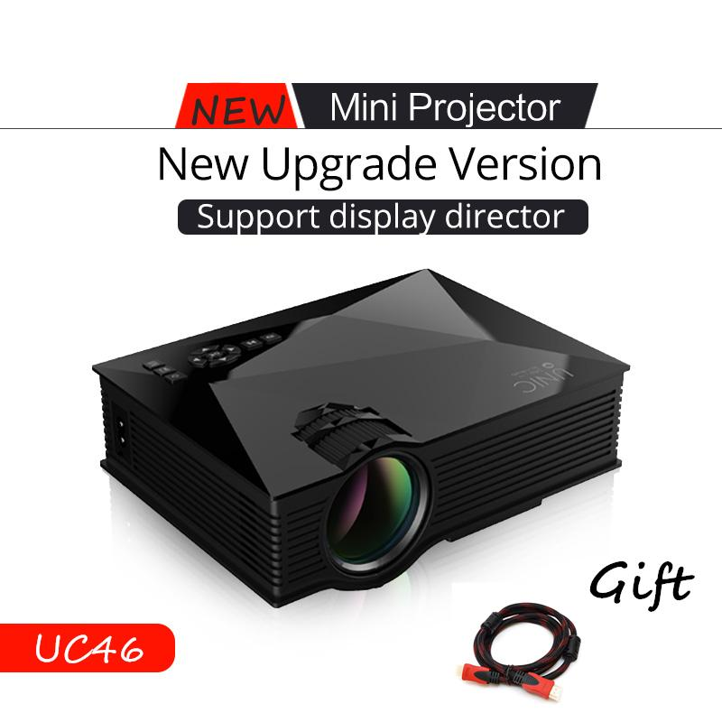 Wholesale-UNIC UC46 WIFI Portable LED Video Home Cinema Projector  VGA/USB/SD/AV/HDMI Wireless Mini Pocket Projector