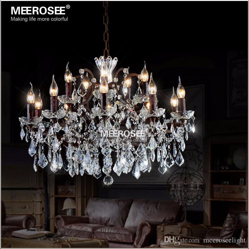Compre vintage crystal loft chandelier light retro rustic compre vintage crystal loft chandelier light retro rustic chandeliers ligts fixture 15 arms hanging drop lamp para home living room a 67232 del aloadofball Images
