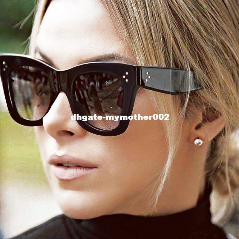 ea9efb546e5d Winla Fashion Sunglasses Women Popular Brand Designer Luxury Sunglasses  Lady Summer Style Sun Glasses Female Rivet Shades UV400 Cheap Sunglasses  Mens ...