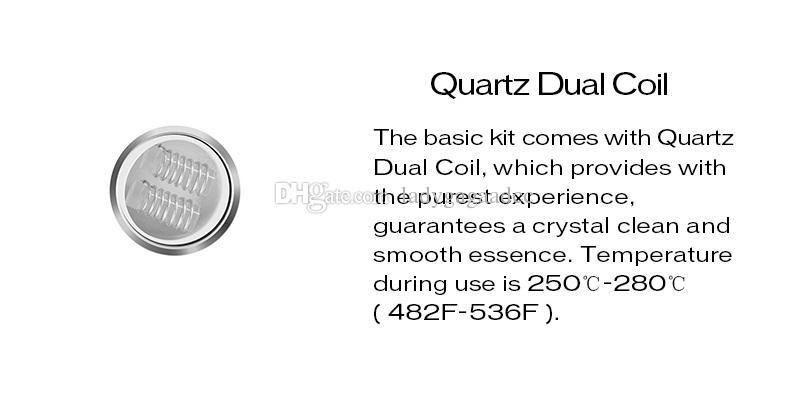100% original yocan taschenlampe QDC Pfannkuchen Spule für Wachs / Kräuter für yocan taschenlampe vaporizer 5 teile / paket