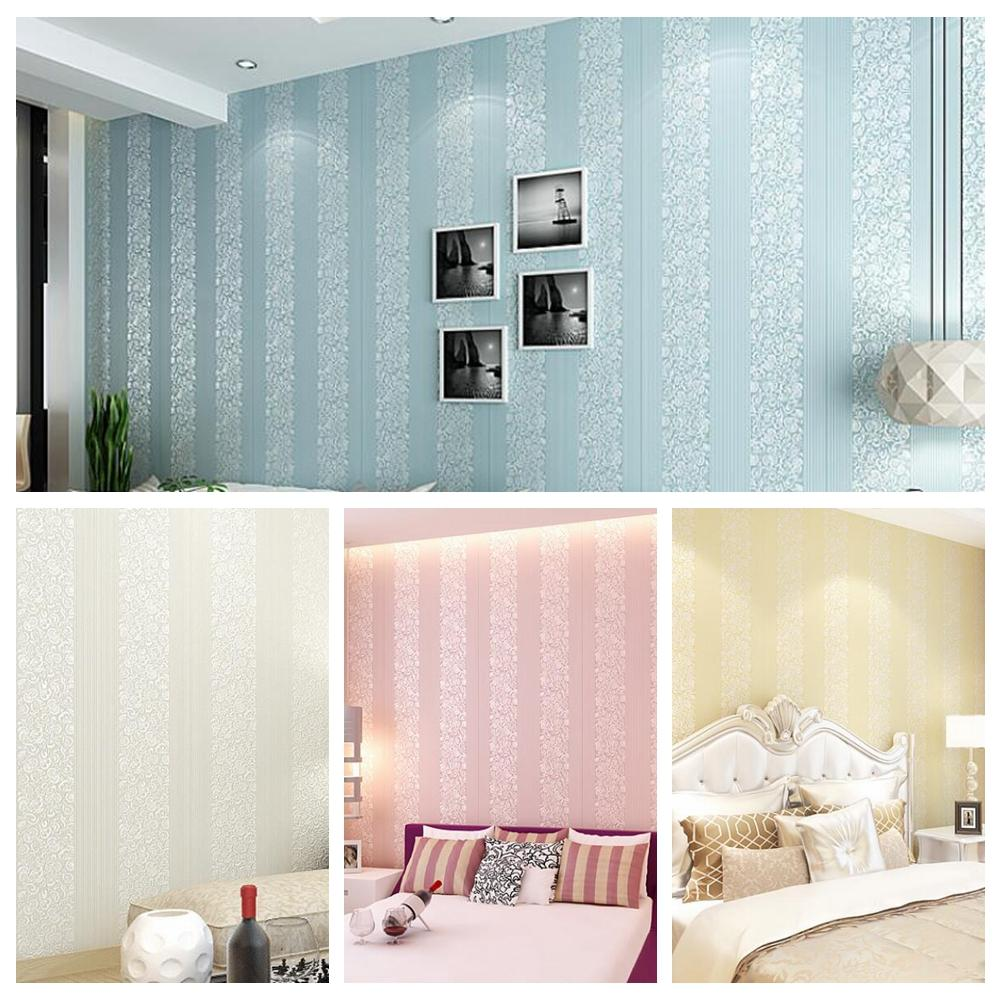 Wholesale Living Room Wall Papers Striped Wallpaper Pink Bule Beige For Living  Room Bedroom Wallpapers Gratis Wallpapers Hd From Brendin, $46.68|  Dhgate.Com Part 33