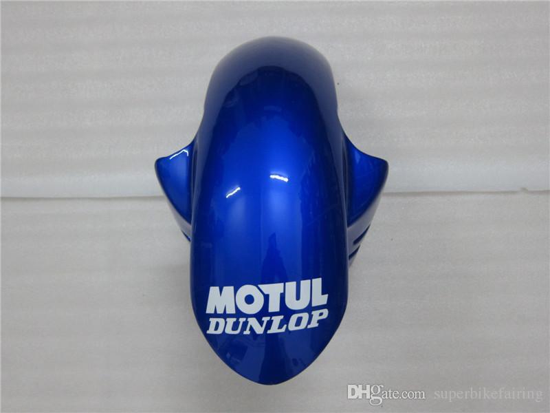 3 regalo Nueva Hot ABS kits de Carenado de la motocicleta 100% Ajuste Para 2005 YAMAHA YZF R6 YZF-R6 2005 YZFR6 YZFR6 2005 Azul Blanco