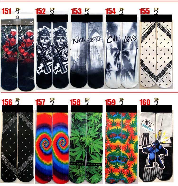 FEDEX 3d носки дети женщины мужчины хип-хоп носок 3d нечетные хлопок скейтборд носки 100 шт.=50 пар