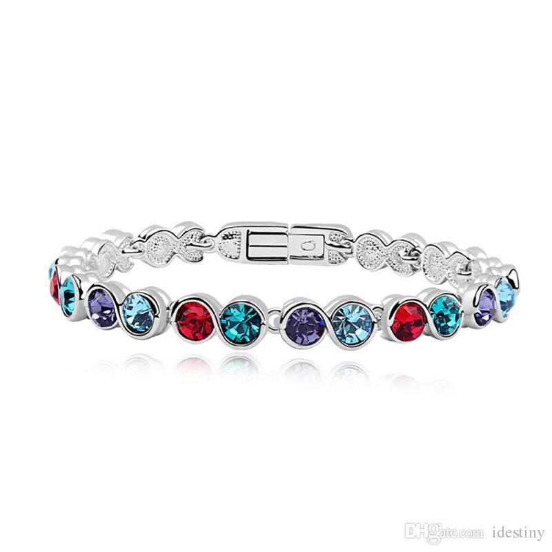 3a4e87cb5 Cheap Rainbow Bracelets Wholesale Wholesale Bracelet Enamel Bangle  Rhinestone