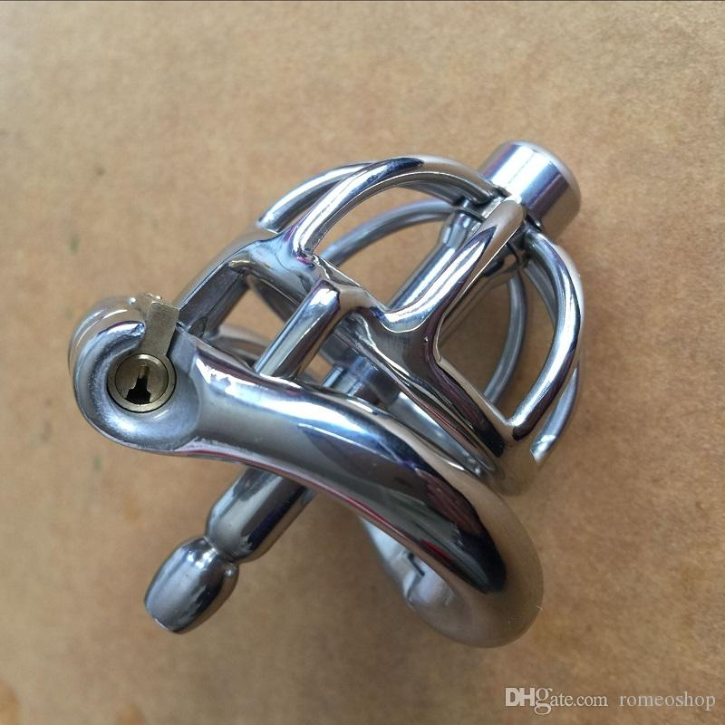 New Style 42mm full length Stainless Steel Super Small Male Chastity Device Short Cock Cage For Men BDSM