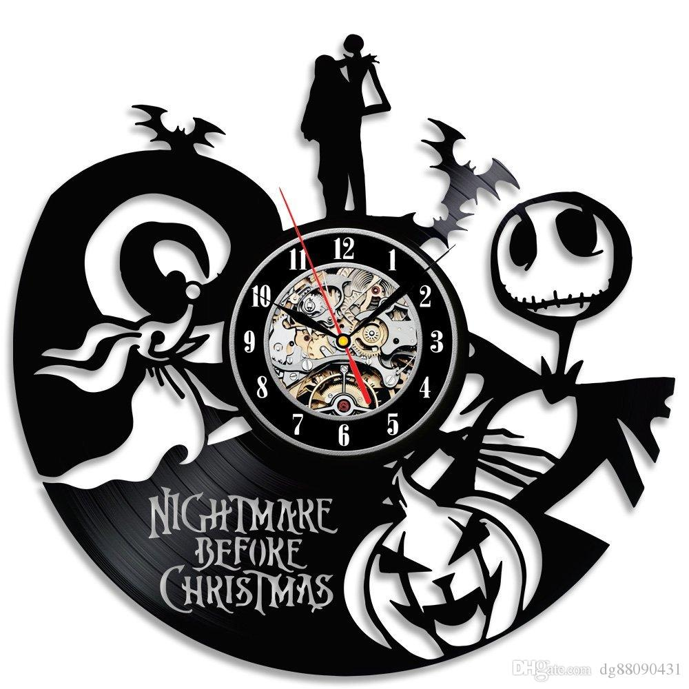 nightmare before christmas theme popular vinyl clock giftchristmas gift nightmare before christmas vinyl clock gift design room art decor online with