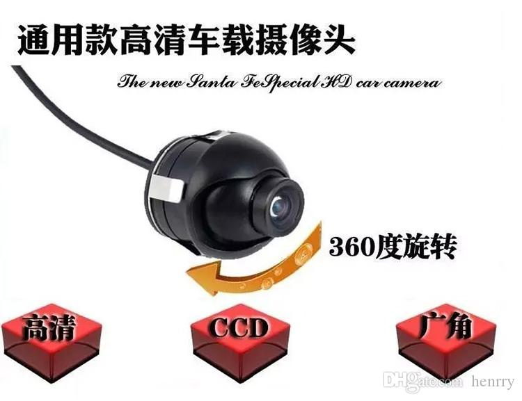 HD CCD Waterproof Rearview Car Camera PZ414 1/4 CMOS DC 12V IP67 Diameter Of Shell 18.5MM 170 Degree 600TVL DHL