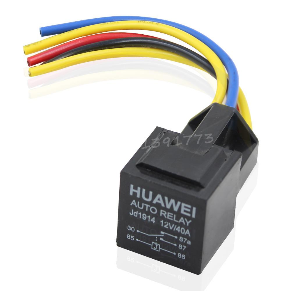 New 40a 12v Car Relay With Wiring Harness Socket Auto
