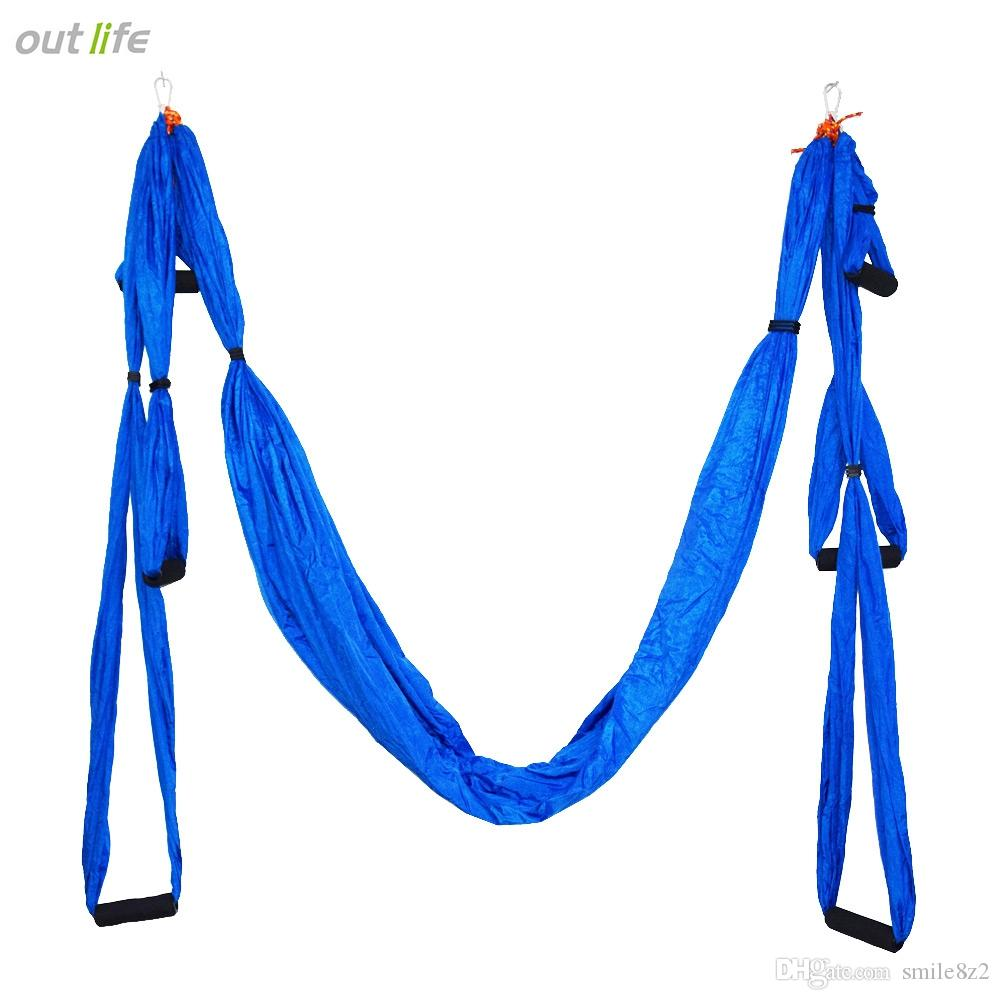 Medium image of aerial yoga hammock parachute fabric swing inversion therapy anti gravity high strength de pression hammock yoga gym hanging  b
