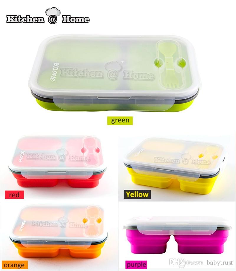 Best Quality Wholesale Silicone Collapsible Portable Lunch Box Bowl