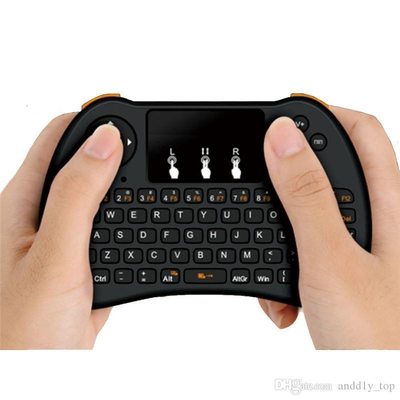 2.4GHz Sans Fil H9 Fly Air Mouse Clavier QWERTY Mini avec Touch Pad Android TV Box Télécommande Contrôleur Gamepad pour IPTV T95