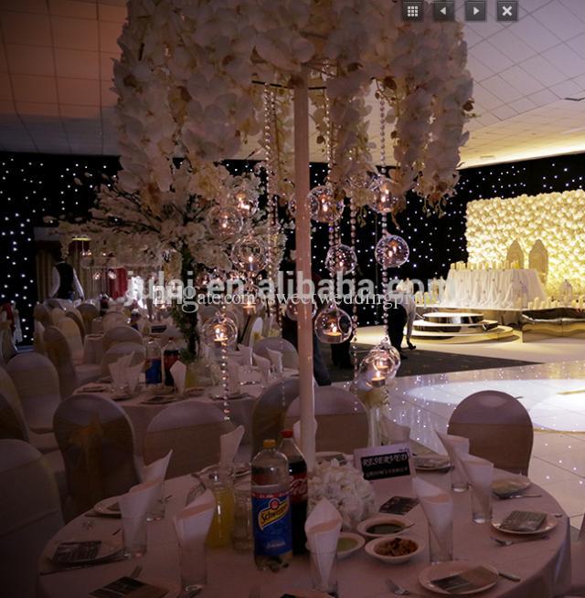 メンタルスタンドのみ)背の高いラウンドの結婚式のフロアの中心部、メンタル通路の結婚式のリードロード