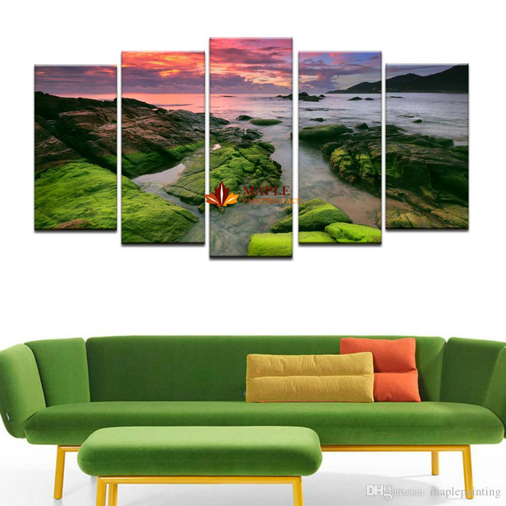 Large Canvas Print Seascape Painting Modern Wall Art Pictures Home Decoration For Living Room Modern Canvas Painting Artwork
