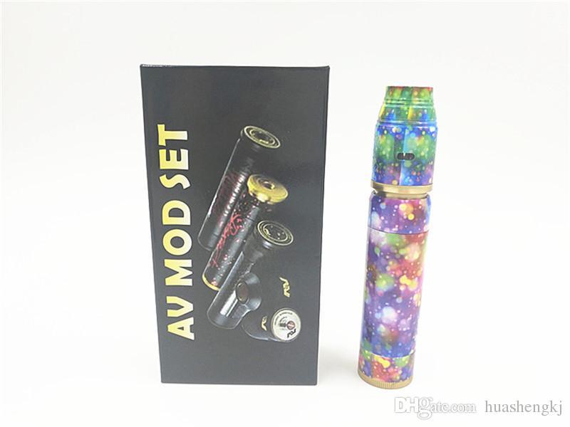 Newest AV Mod Kit Colorful E Cig Kit AV Colorful Kit Vape Mod Clone Cigarette Kits for Sale at Aimcig High quality VS other mod DHL free