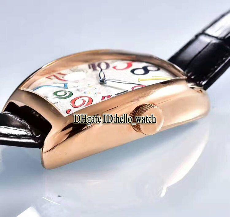 Alta Qualidade LOUCOS HORAS 8880 CH Mostrador Preto Automático Mens Watch Rose Pulseira De Couro De Ouro de Alta Qualidade Novo Esporte Relógios Baratos