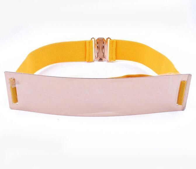Cintura elastica larga Moda impreziosita Custode Designer Cinture Donna Metallo Bling Kim Oro Specchio Cintura elastica larga Regalo di Natale
