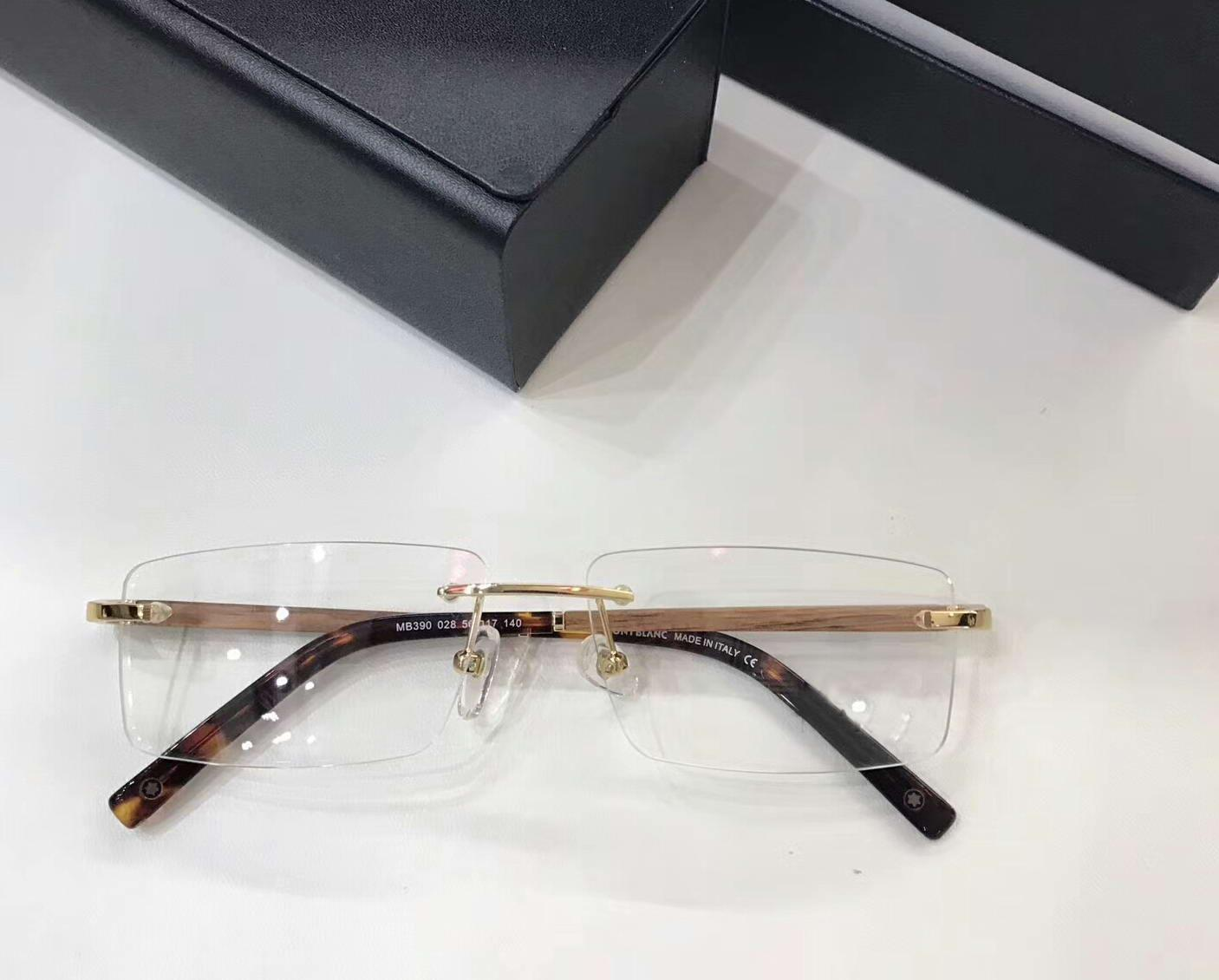 34ad5dbed8 Men Black Gold Rimless Wooden Temples Glasses Eyeglasses Frames Eyewear  56mm 17 140 Brand New with Box Online with  65.87 Piece on Baiyu168 s Store  ...
