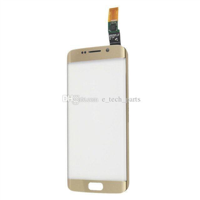 Écran tactile Digitizer Pour Samsung Galaxy S6 Edge G9250 G925F G925V G925P avec Logo Avant Capteur Tactile Écran En Verre Remplacement De Panneau
