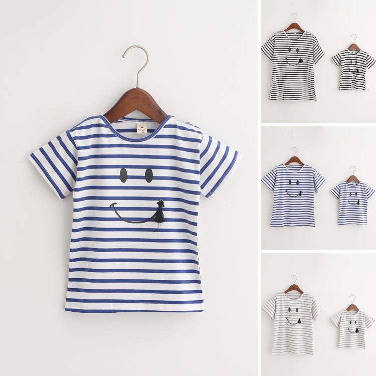Roupas de harmonização da família, bebê e mãe camiseta, menina casaco de camisetas listradas, mãe e bebê Roupas de criança, roupas de meninas