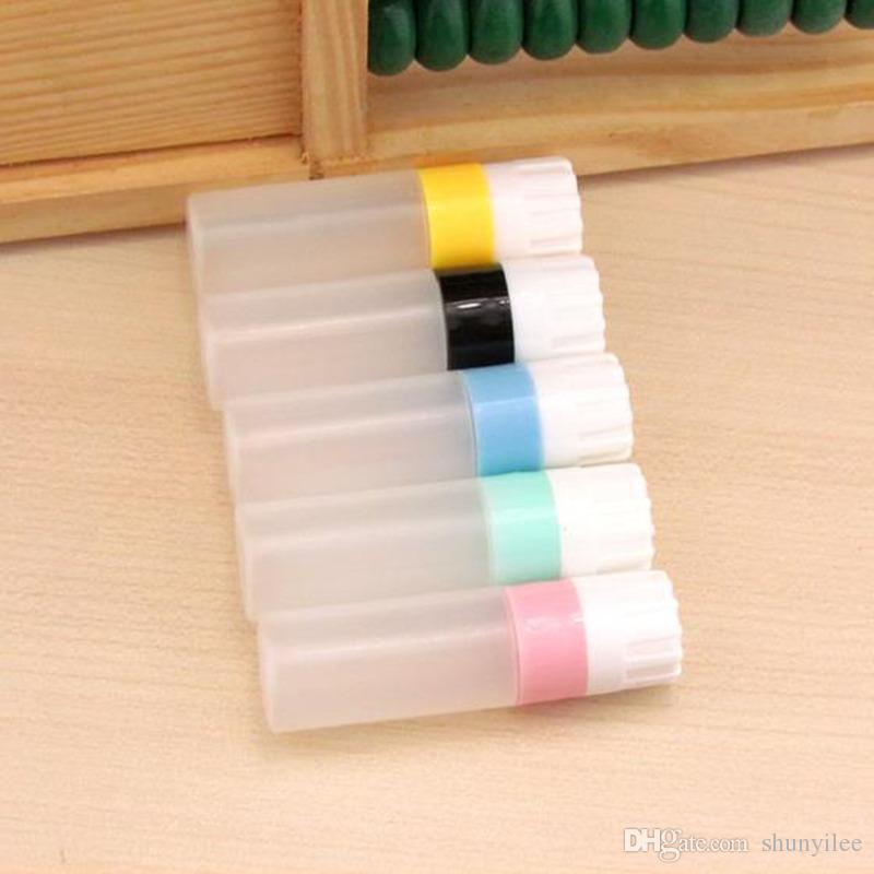 5 farben augenkontaktlinse flasche kunststoff flüssigkeit flaschenbehälter für kontaktlinse fall punkte abfüllung f2017419