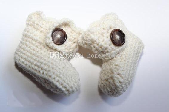 Crochet baby boy girl knitted boots snow booties first walker shoes prewalker first walker shoes newborn infant toddler booties cotton yarn