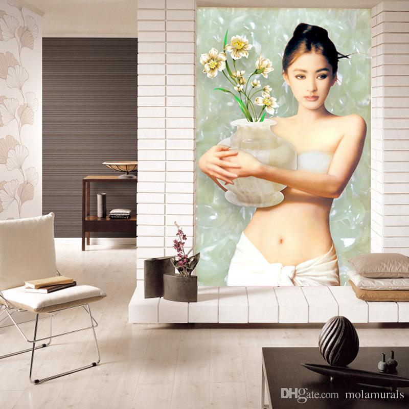 Custom Wall Murals Sexy Girl Beauty Fresco Beauty European oil painting Home living room corridor Decoration Custom Wall Murals