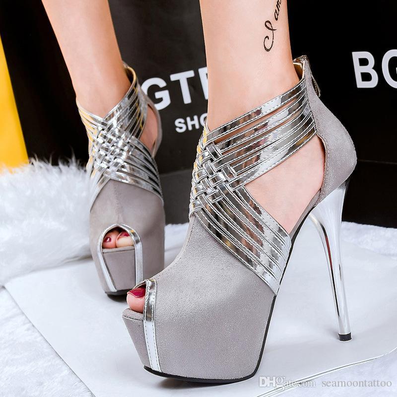 0ae22ebd0760e 20152902 Frauen high-heeled Schuhe 14cm hohe Qualität Frauen Sandalen  Schuhe Mode Schuhe