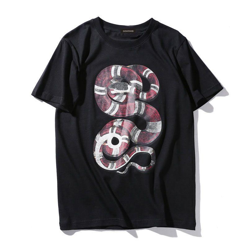 2017 Python Camiseta Serpiente 3D Impreso Tops Tee Hombres Mujeres Moda Punk Rock Casual Algodón de Manga Corta O-cuello Camisetas