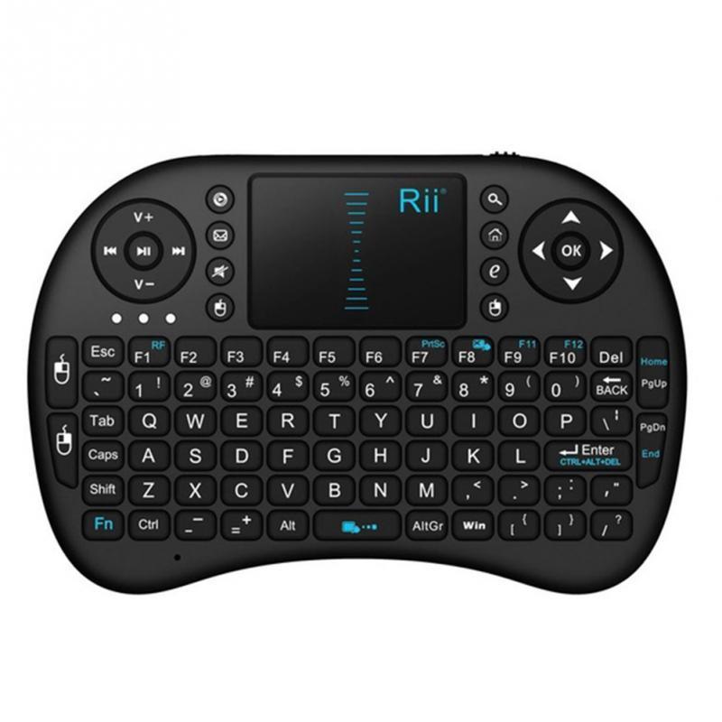 Mini teclado sem fio rii i8 2.4 ghz air mouse teclado controle remoto touchpad para android box tv jogo 3d tablet pc