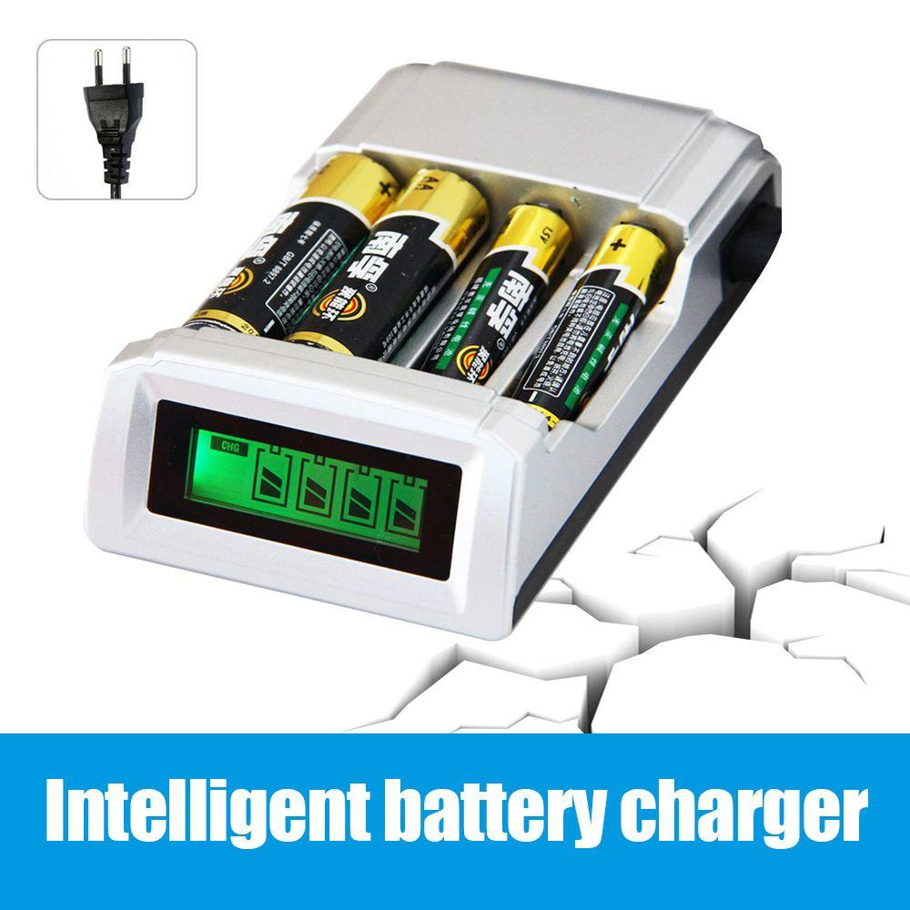 Original C905w 4 Slots Lcd Display Smart Portable Battery Charger For Aa Aaa Nicd Nimh Rechargeable Batteries Eu Us Plug Electronic Cigarette