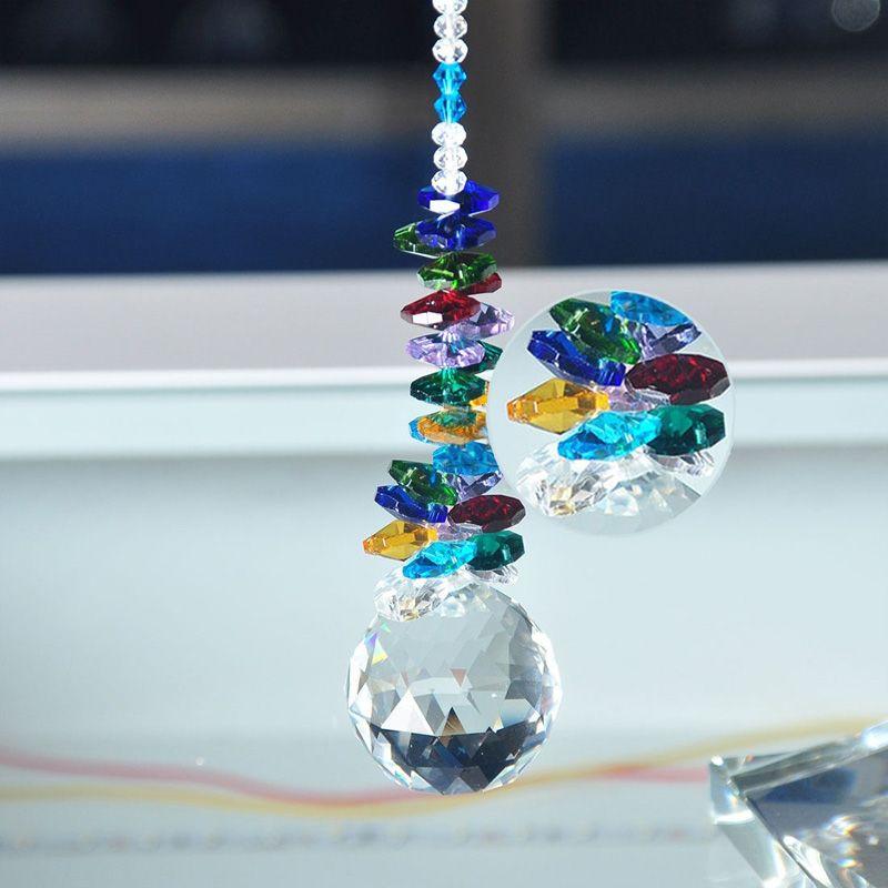 Glass Crystal Suncatcher Ball Pendant Chandelier Part Prism Hanging Pendants Home Decorations 30mm 40mm W042